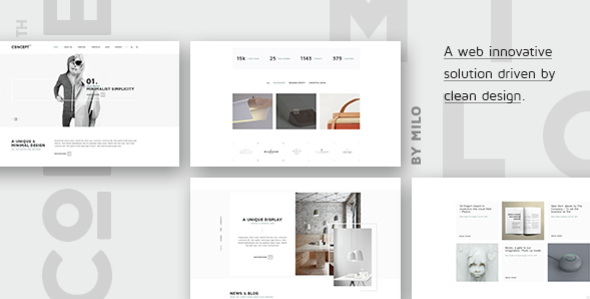 Concept - Design-Driven Multipurpose HTML5 Template            TFx