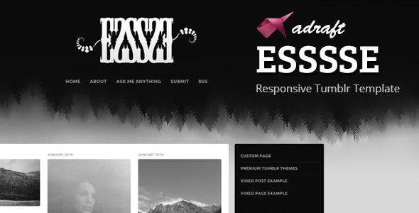 ESSSSE - Responsive Tumblr Template            TFx