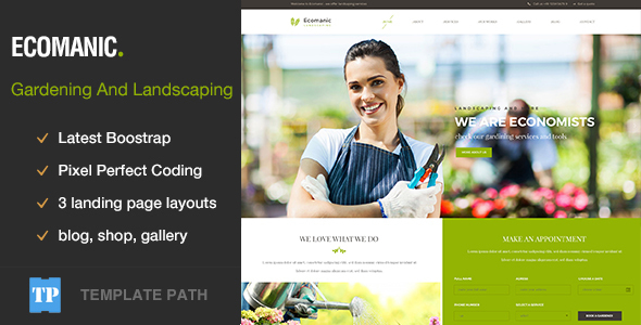 Ecomanic - Gardening and Landscaping HTML Template            TFx