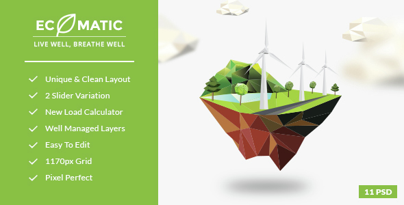 Ecomatic - PSD Template for Renewable Energy Businesses            TFx