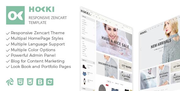 Hoki – Responsive Zencart Theme            TFx