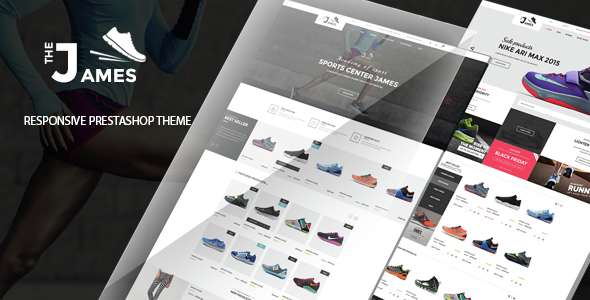 James - Responsive Prestashop Shoes Store Theme            TFx