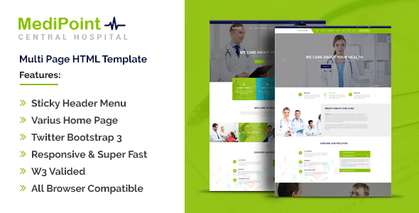 MediPoint | Responsive HTML5 Medical Template            TFx