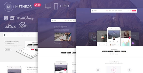 Metheor - Multi-Purpose App Showcase Template            TFx