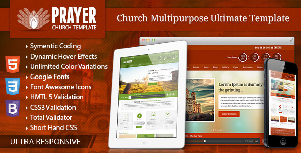 Prayer - Church Responsive Site Template            TFx
