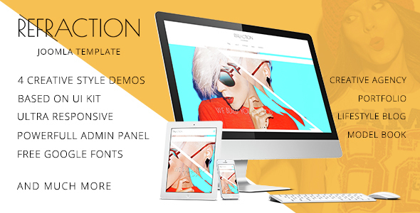 Refraction — Creative Agency and Blog Responsive Joomla Multipurpose Template with 4 Demo            TFx