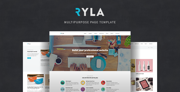 Ryla - Multipurpose Single/Multi Page Template            TFx