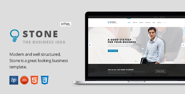Stone - Responsive Business HTML5 Template            TFx