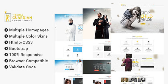 The Child Guardian - HTML Template for Charity, Mosque and Church             TFx