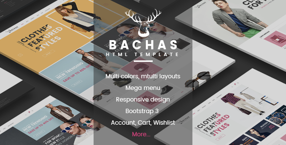 Bachas - Fashion eCommerce Bootstrap Template            TFx