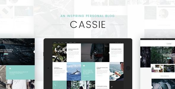 Cassie - An Inspiring Personal Blog PSD Template            TFx