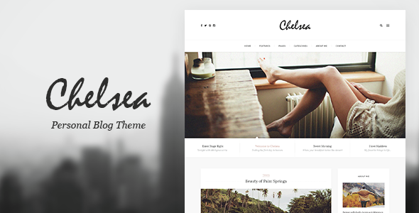 Chelsea - Personal Blog Template for Travelers and Dreamers            TFx