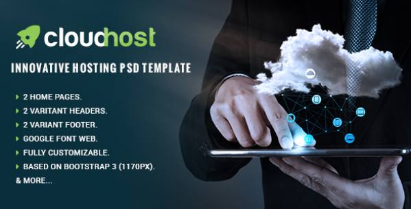 Cloud Host - Innovative Hosting PSD Template            TFx