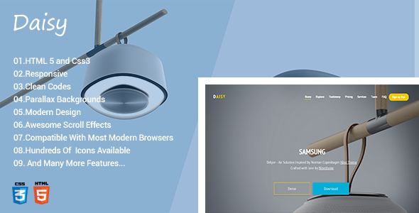 Daisy Responsive Onepage Template            TFx