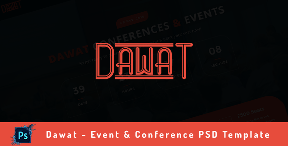 Dawat - Event & Conference PSD Template            TFx