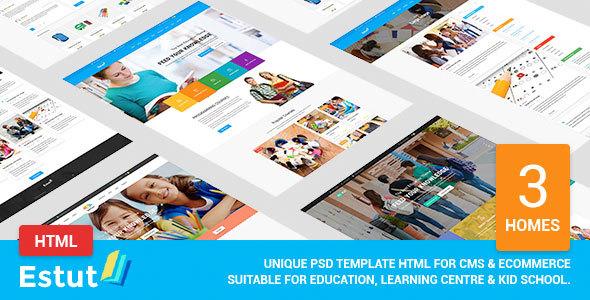 Estut - Material Education, Learning Centre & Kid School MultiPurpose HTML5 Template            TFx