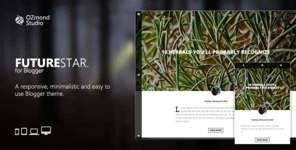 FutureStar: A Minimalistic & Creative Theme for Personal Blogging            TFx