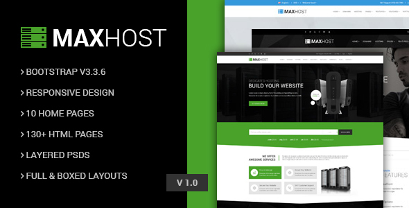 MaxHot - Professional Web Hosting Responsive HTML5 Template            TFx