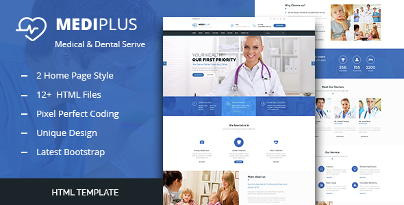 Medi Plus - Health And Medical HTML Template            TFx