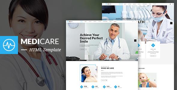 MediCare – Dentist, Medical HTML5 Template            TFx