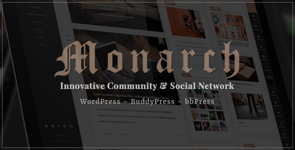 Monarch - Innovative WordPress Community Theme            TFx