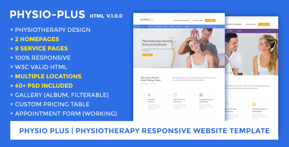 Physio Plus | Physiotherapy Responsive Website Template            TFx