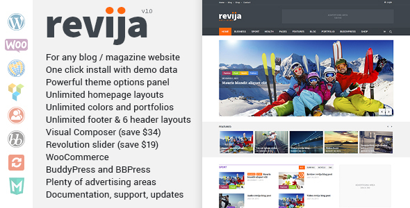 Revija – Blog/Magazine Wordpress Theme            TFx