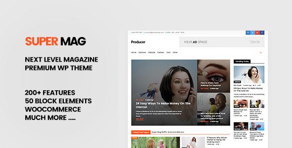 Super Mag - News Magazine and Blog WordPress Theme            TFx