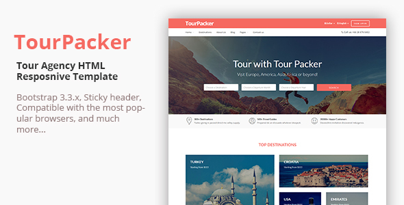 Tour Packer - Tour Agency HTML Template            TFx
