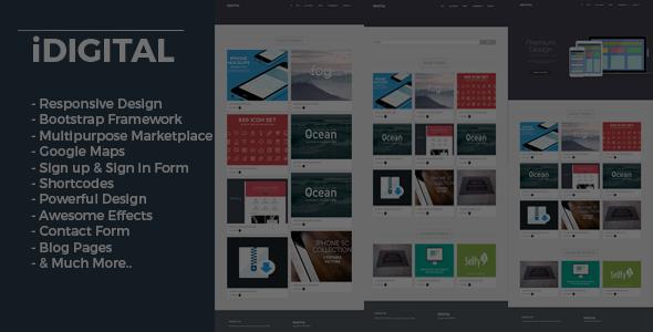 iDigital - Marketplace Theme For WordPress            TFx