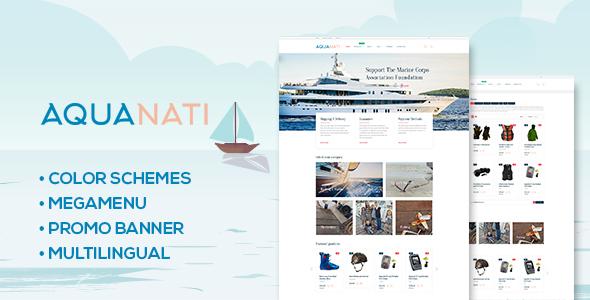 Aquanati - Responsive Shopify theme            TFx