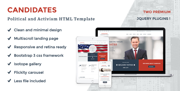 Candidates - Political and Activism HTML5 Template            TFx