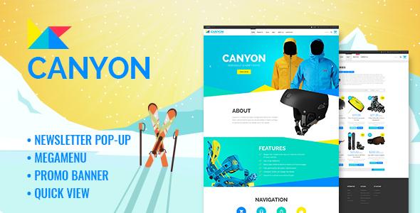 Canyon - Responsive Extreme Sportswear Shopify Theme            TFx