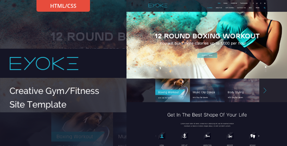 Eyoke - Creative Gym/Fitness HTML Template            TFx