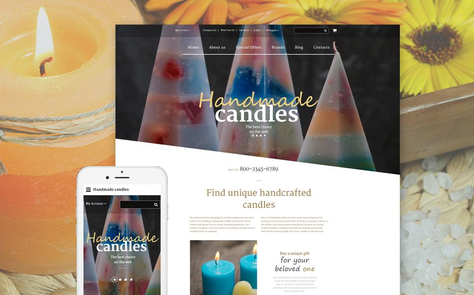 Handmade Candles OpenCart Template TMT