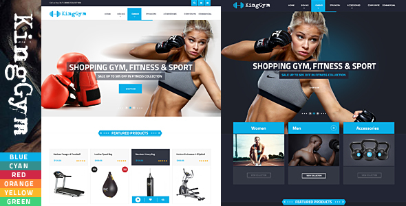 Kinggym - Fitness, Gym and Sport Opencart theme            TFx