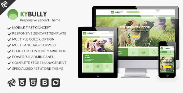 Kybully - Mobile First Zencart Theme            TFx