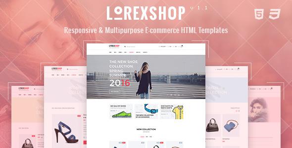 LOREX - Multipurpose Ecommerce HTML5 Template            TFx
