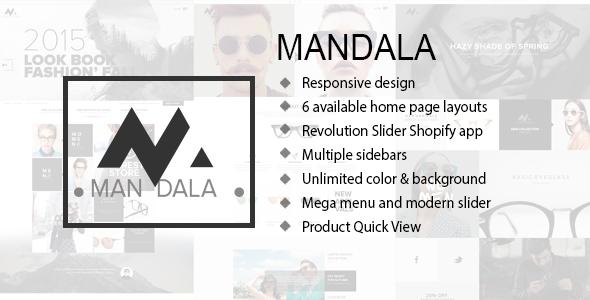 Mandala - Responsive Ecommerce Shopify Theme            TFx