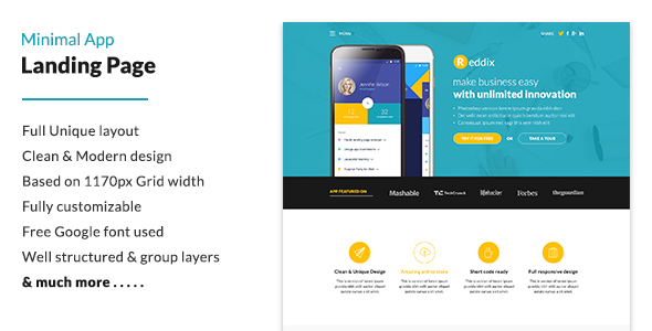 Minimal App Landing Page            TFx