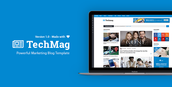 TechMag - News and Magazine BootStrap Template            TFx