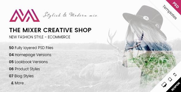 The Mixer - Creative Shop PSD Templates            TFx