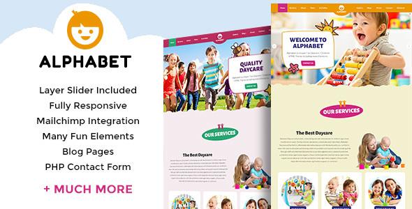 Alphabet - Daycare / School HTML5            TFx