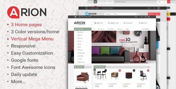 Arion - Responsive Shopify Theme            TFx