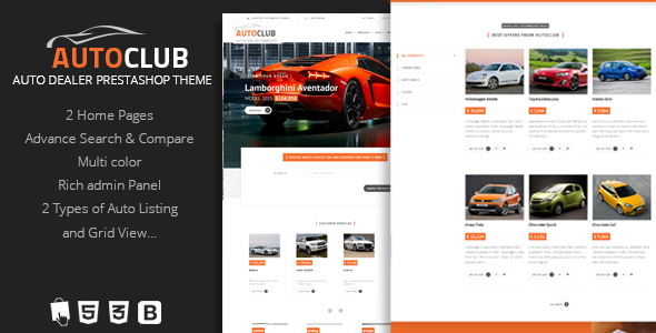 Auto Club - Responsive Car Dealer Prestashop Theme            TFx