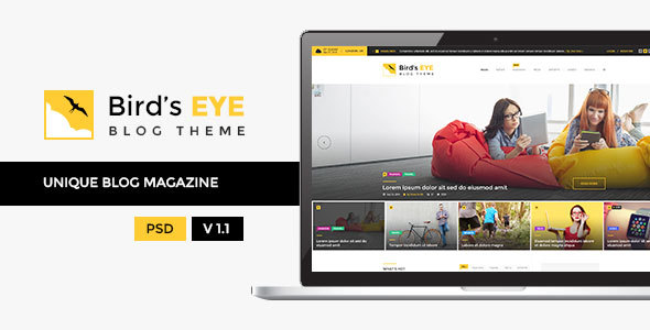 Birds Eye - Blog and Magazine Template            TFx