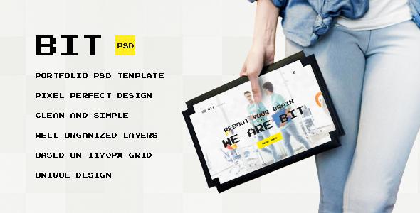 Bit — Original Digital Portfolio PSD Themplate            TFx