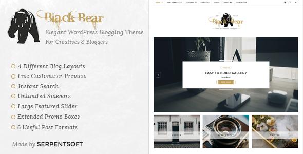 Black Bear - Responsive WordPress Blog Theme            TFx
