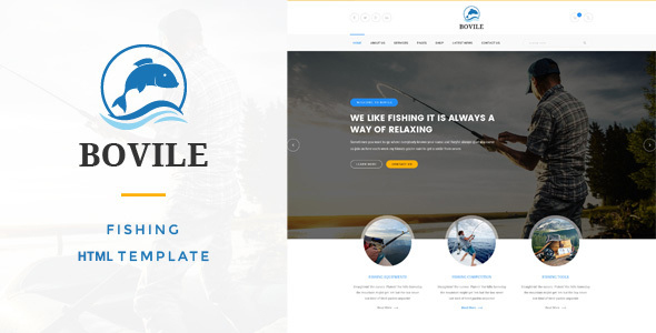Bovile - Fishing HTML Template            TFx