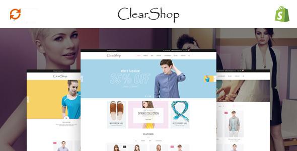 Clear Shop - Wonderful Responsive Shopify Theme            TFx